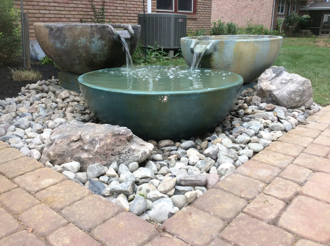 One Of The Newest Waterfeature Options That Is Becoming More Por Are Aquascape S Spill Way Bowls Because They Fit Everywhere Front Yard Backyard